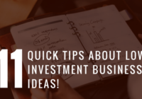 Quick Tips about Low Investment Business Ideas
