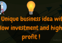 Unique business ideas with low investment and high profit-Totally fresh idea!
