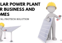 Solar power plant for homes and business